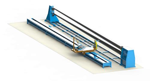 Máquina para produção de poste em fibra de vidro